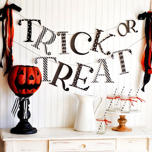 """Trick or Treat"" Banner"