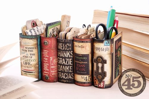 Typography Desk Organizer Set