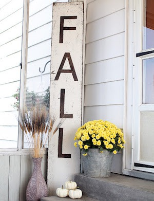 Fall Distressed Sign