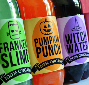 Halloween Soda Labels