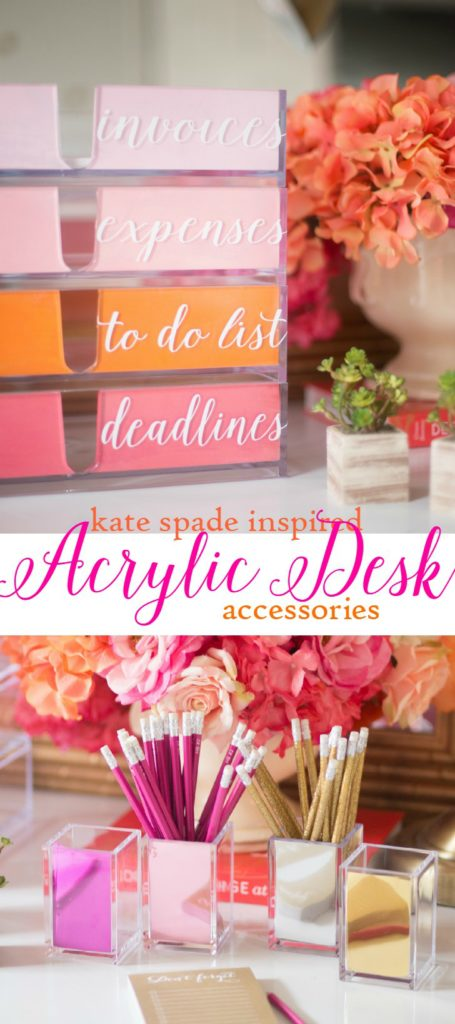 KATE SPADE INSPIRED ACRYLIC DESK accessories