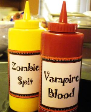 Spooky Condiment Bottles