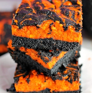 Halloween Swirl Cream Cheese Brownies