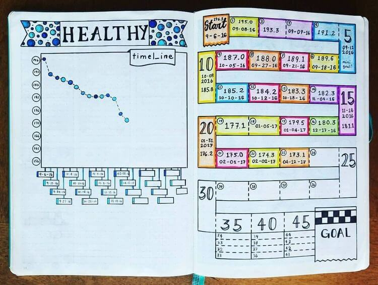 crush your health  u0026 fitness goals with bullet journal