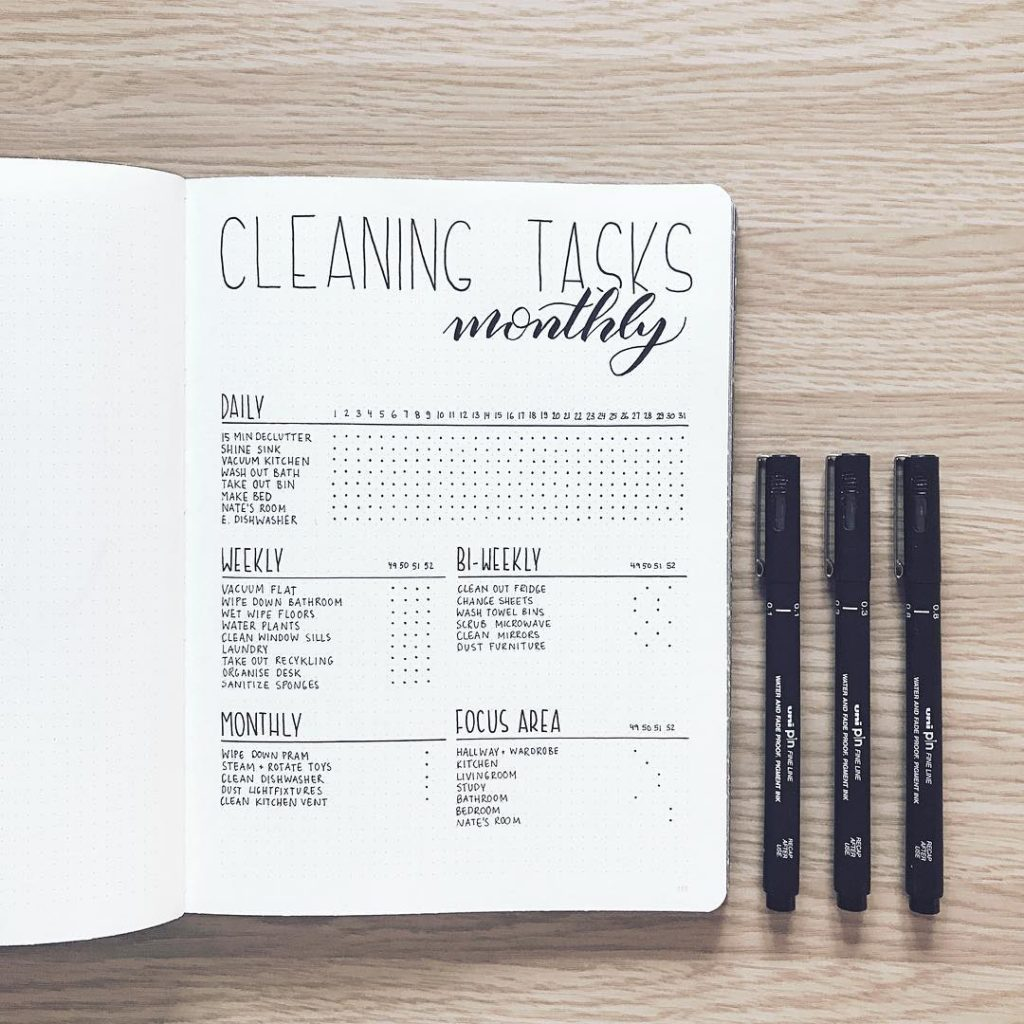 a cleaning schedule that helps you stay on top of daily weekly monthly and yearly tasks