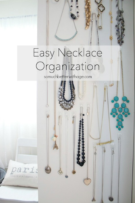 Jewelry Storage Use Command Hooks To Hang