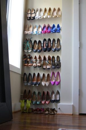 If You Have A Lot Of Shoes And Not Much Closet Space, Use Tension Rods In Small  Space To Create A Shoe Storage Area.
