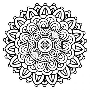 printable indian mandalas coloring pages - photo#42