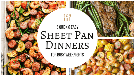 These sheet pan dinners are the best! I can't wait to make them for my family! So pinning! #sheetpan #dinners