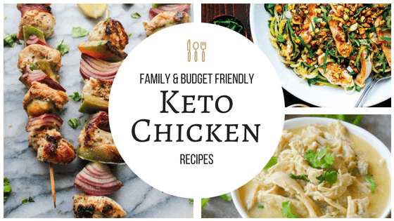 These keto chicken dinners are great! Family friendly and I can stay in budget! So pinning! #keto #lowcarb #ketogenic #chicken #budget #family