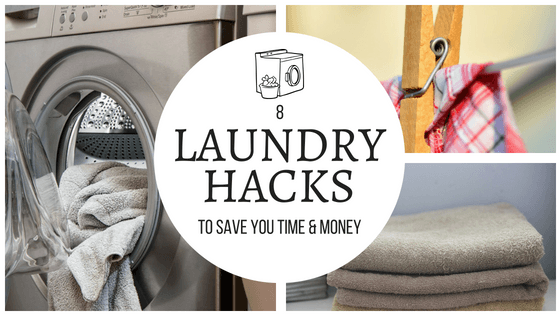 These laundry hacks are amazing! I will use them to help me get organized and save time and money! So pinning! #laundry #hacks #savetime #savemoney