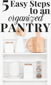 5 steps: organized pantry