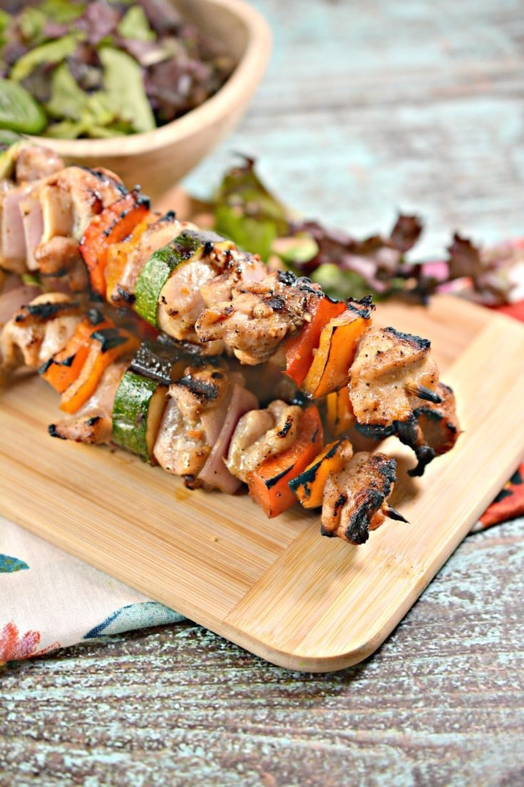 Keto Grilled Chicken Skewers 6