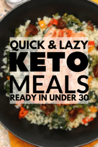 easy 30 minute keto dinners