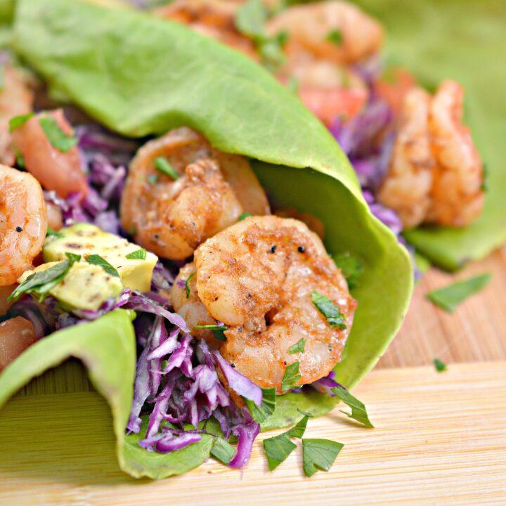 Keto Shrimp Taco Lettuce Wraps