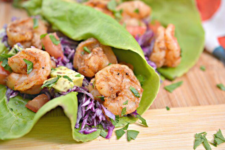 Keto Shrimp Taco Lettuce Wraps 7