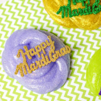 DIY Colorful Mardi Gras Slime in Gold, Green and Purple