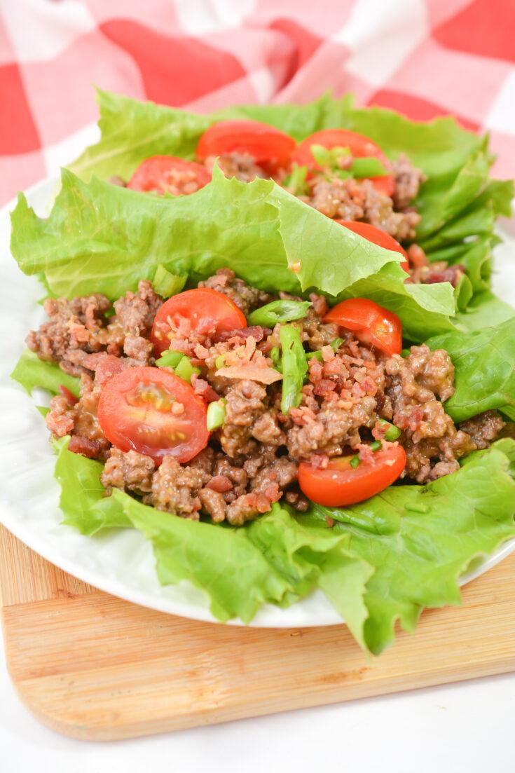 Bacon Cheeseburger Lettuce Wraps 5