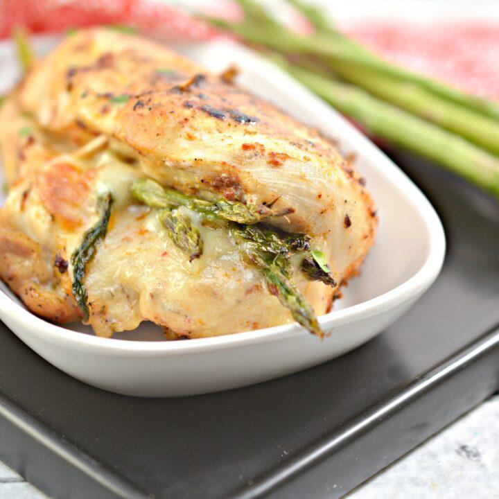 Keto Asparagus Stuffed Chicken