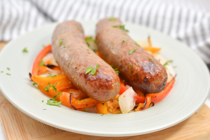 Air Fryer Sausage, Peppers and Onions 6