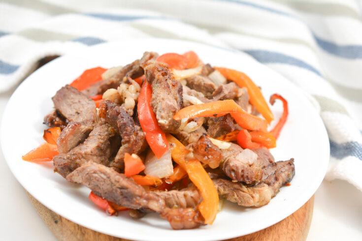 Easy Keto Air Fryer Steak Fajitas 4